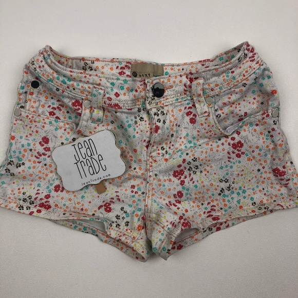 Roxy Other - Girl's Roxy Floral Jean Shorts